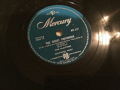 THE PLATTERS THE GREAT PRENTENDER RECORD 78 rpm