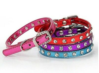 New Cat Collar Diamant Kitten Crystal Rhinestone Safety Bling PU Leather Diamond