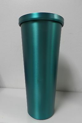 New!! Starbucks HIGH-RISE TURQUOISE BLUE Stainless Steel Cold Cup Tumbler 24oz