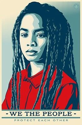 Shepard Fairey We The People Protect Each Other - Unsigned Offset Print 24x36
