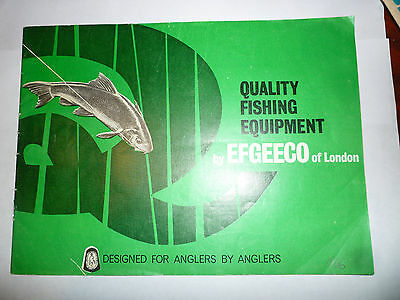 Vintage EFGEECO Fishing Catalogue/Tackle Guide 1966 price list