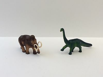 1970's Vintage MAMMOTH and BRACHIOSAURUS DINOSAUR collectable toy figures
