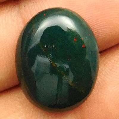 13.05 cts Natural Nice Untreated Bloodstone Gemstone Oval Shape Loose Cabochon