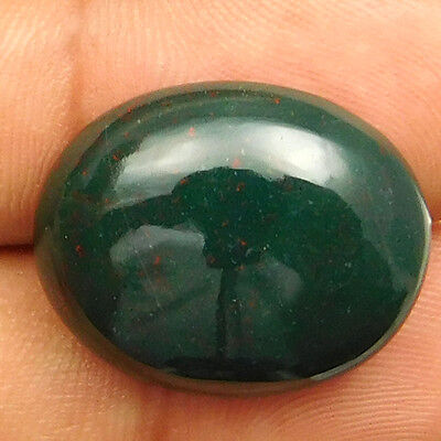 22.50 cts Natural Nice Untreated Bloodstone Gemstone Oval Shape Loose Cabochon