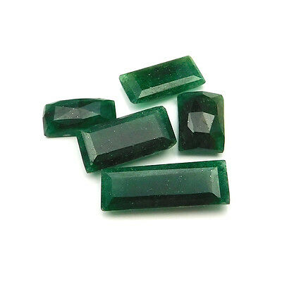 44.35 cts Natural Green Aventurine Fancy Both Side Faceted Gemstone 5 pcs lot