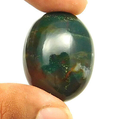 59.50 cts Natural Untreated Blood Stone Cabochon Oval Loose Gemstone Jewelry