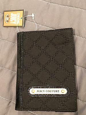 NWT Juicy Couture Quilted Passport Holder Black