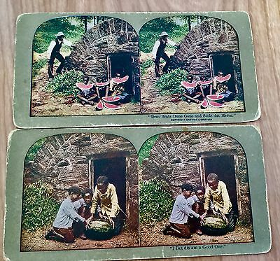 Antique Stereo View Cards Black Americana