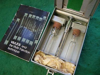 Vintage Boots VIULES Stainless Cartridge Syringe with Case & Instructions