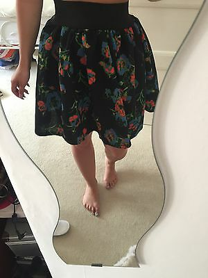 Vintage Floral Skirt Size Small