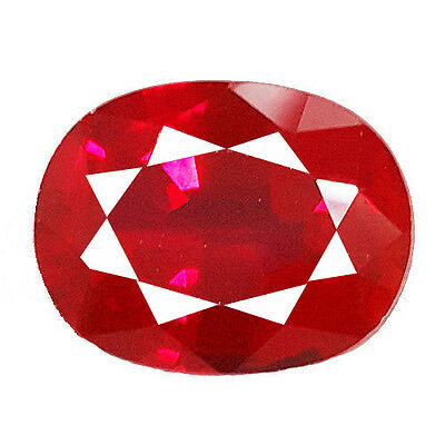 BEAUTIFUL AND STUNNING 15.70 Ct BLOOD RED OVAL SHAPE RUBY LAB CREATED GEMSTONE