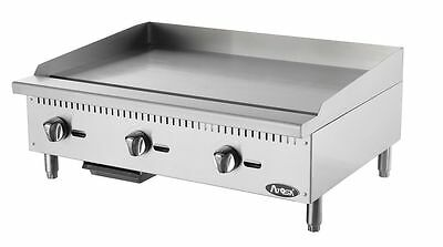 """New 36"""" Flat Griddle Manual Control Commercial Restaurant Duty Nat Or Lp Gas"""