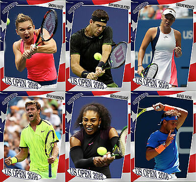 *NEW US OPEN 2016* COMPLETE 6 CARD Collector's edition tennis set!!