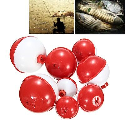 New 8Pcs/lot Assorted Sizes Fishing Bobber Round Floats Combo Tackle Assortment