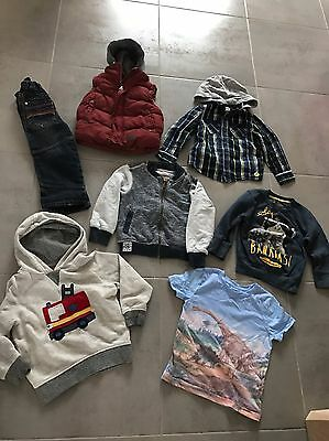 Boys Age 2-3 Clothes Bundle Next Trousers Jumpers Tops Winter T Shirt Red Jeans
