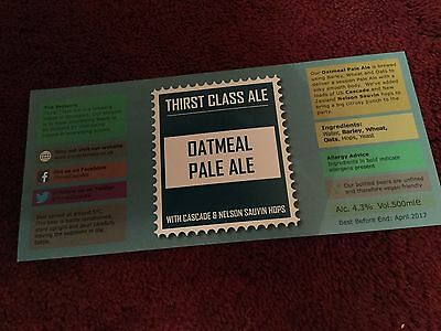 Thirst Brewery Beer Bottle Label