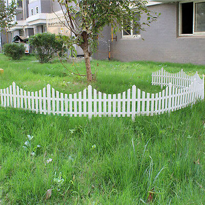 New 33cm Plastic White Plug In Fence Garden Decoration Fence