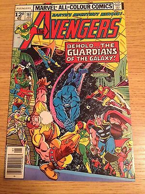 Marvel Avengers #167  1st Guardians Of The Galaxy Team Up