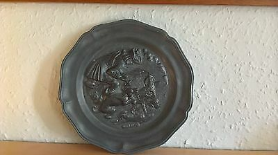 Vintage Pewter Wall Plate