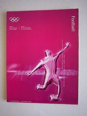 Orig.Complete PRG    Olympic Games SYDNEY 2000  -  FOOTBALL  !!   EXTREM RARE