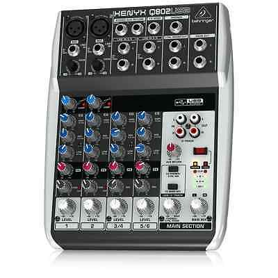 Behringer Premium 8 Input 2 Bus Mixer with XENYX Mic and USB/Audio Interface
