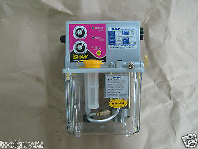 """Automatic Lube Pump, 2 Liter Reservoir, 110 Volt, Timed Cycle, Ishaw YET R1 """"NEW"""