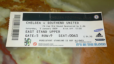 Ticket 2008/09 FA Cup - CHELSEA v. SOUTHEND UNITED