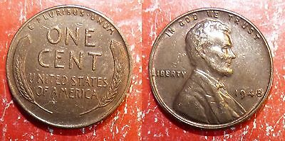 1 ONE CENT 1948 USA Etats-Unis Lincoln penny