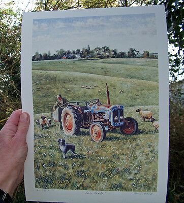 Fordson Dexta 1961 - signed and numbered Fine Art Print by Steven Binks