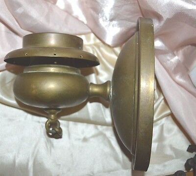 Vintage Brass Electric Wall Sconce Light Fixture