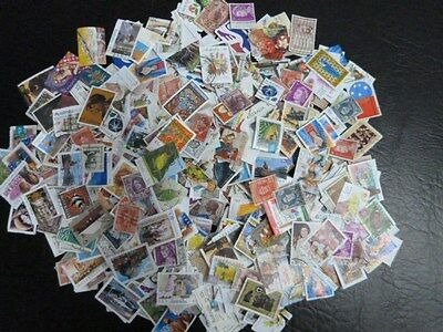 1001+ Used Australian Stamps Off Paper