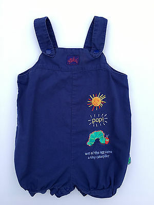 Carter's Eric Carle Baby Girls / Boys Blue Romper Overalls Outfit 3-6 Months