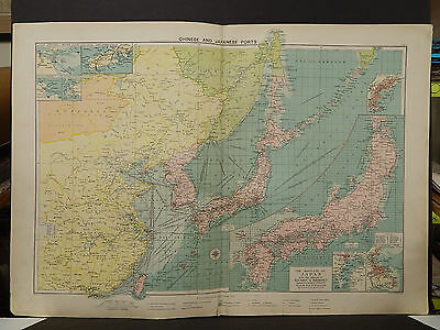 Mercantile Marine Atlas 1914 Chinese and Japanese Ports R4#62