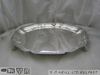 RARE GEORGE V HM STERLING SILVER SALVER 1931 42.8 oz