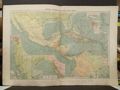 Mercantile Marine Atlas 1914 Central American and West Indian Ports R4#64