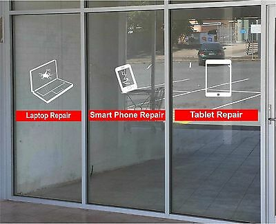 Cell Phone Tablet Laptop Repair Business Vinyl Decal Sticker Window Lettering