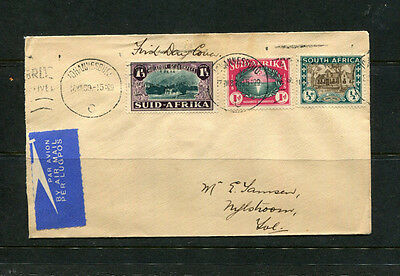 South Africa 1939 Fdc First Day Stamp Cover