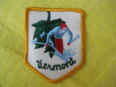 """Vintage State Of Vermont Patch 2 5/8"""" X 3 1/4"""""""
