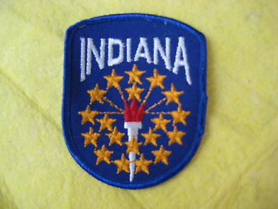 """Vintage State Of Indiana Patch 2 5/8"""" X 3 1/4"""""""