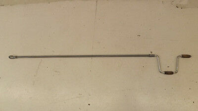 "VTG Store Window Awning Crank Handle 70"" Long  Retail RV Camper"