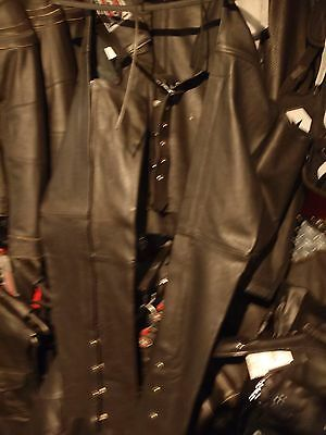 River Road Womens Leather Chaps Black Showroom Sample