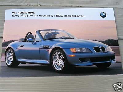 Original 1998 BMW Full Line Color  Brochure