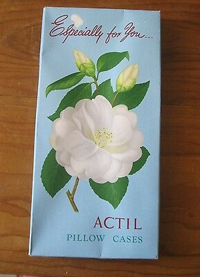 One Pair Of Boxed Vintage Actil Pillow Cases.