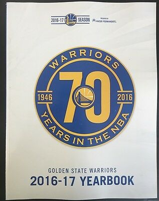 2016 2017 Golden State Warriors Yearbook Program Nba Final Champ Curry Durant