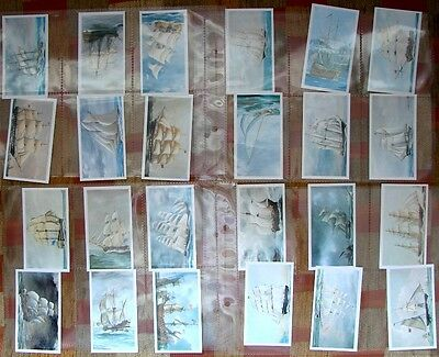 1978 Full Set 24 John Player Doncella Vintage Cigar Cards Golden Age Of Sail