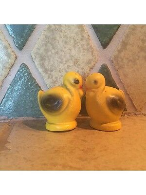 Retro Vintage Ducks / Yellow Birds  Salt And Pepper Shakers