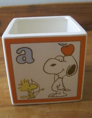Vintage Snoopy/peanuts Cube Shaped Container: