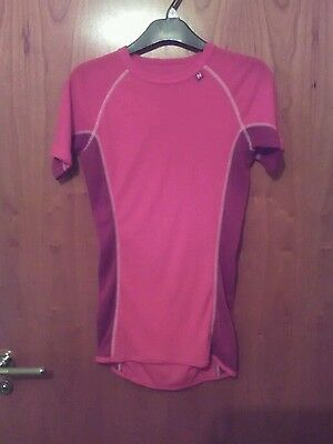 Short sleeved underlayer ladies small pink hiking skiing