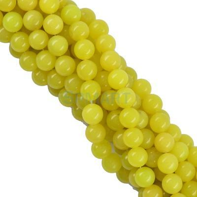 10mm Gemstone Loose Beads Charms Pendants for Necklace Jewelry Making Yellow