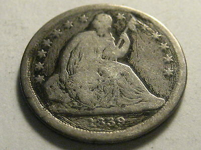 1839-P Seated Liberty Dime Scratches